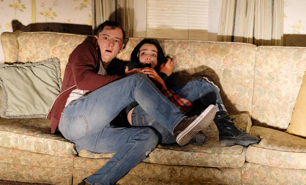 Lewis Pullman and Bailee Madison in THE STRANGERS: PREY AT NIGHT (2018)
