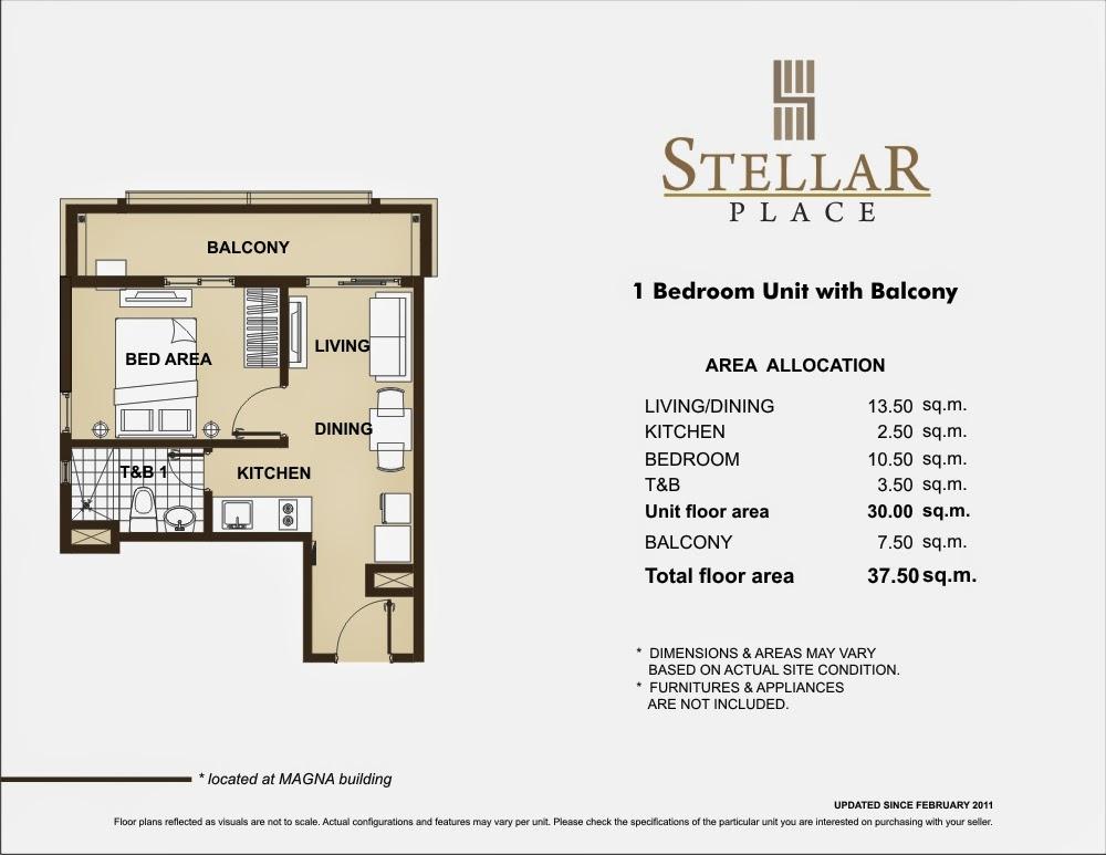 Stellar Place 1-Bedroom Unit 37.50 sqm