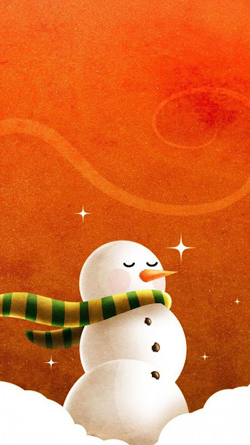 snow man iphone 6 merry christmas wallpaper