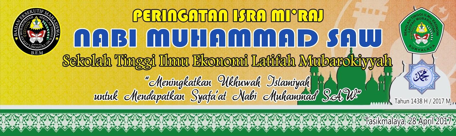 Download Contoh Spanduk Isra Mi Raj Cdr Karyaku