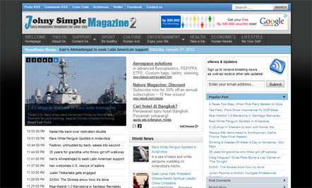 johny simple blogspot template