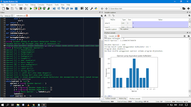 Program Kalkulator Sederhana Menggunakan Python    Belajar Python Dasar
