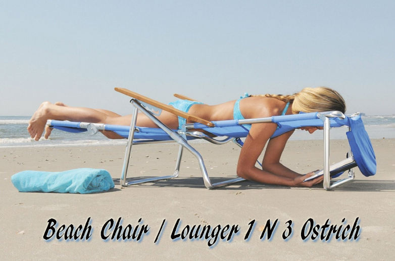 Ostrich 3 N 1 Beach Chair-Lounger, Ostrich Beach Chair, Ostrich Chaise, Ostrich  Folding Chaise Chairs, Beach chairs, Folding Beach Chairs, Ostrich Beach Folding Chair, Patio Furniture, Outdoor Furniture,