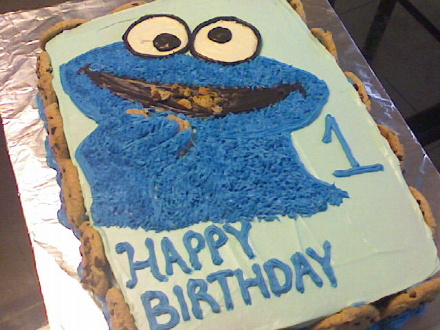 Chrissy P Cakes Cookie Monster Cake With Cookies All