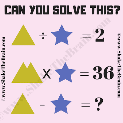 In this Math Picture Puzzle for Students, your challenge is to find the value of the Triangle and Star