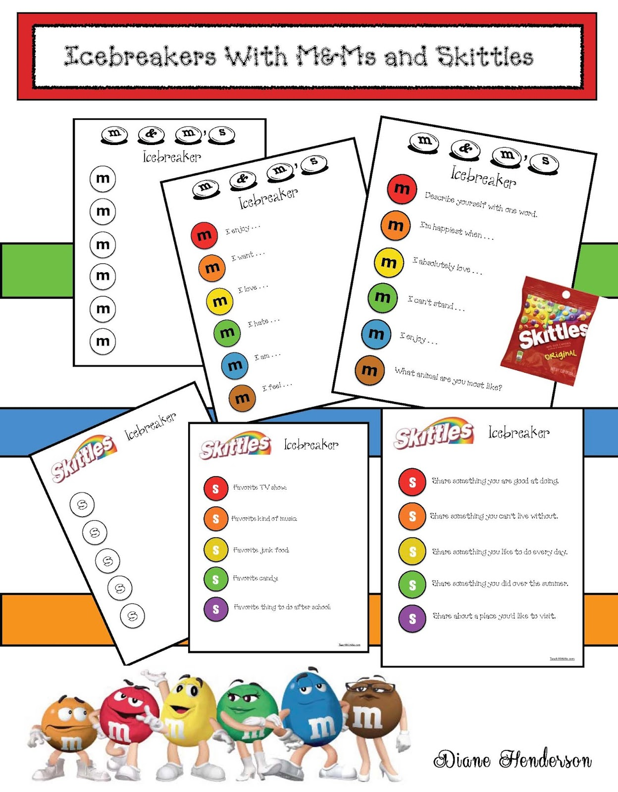 M&Ms and Skittles Icebreaker Games For Back To School | Classroom ...