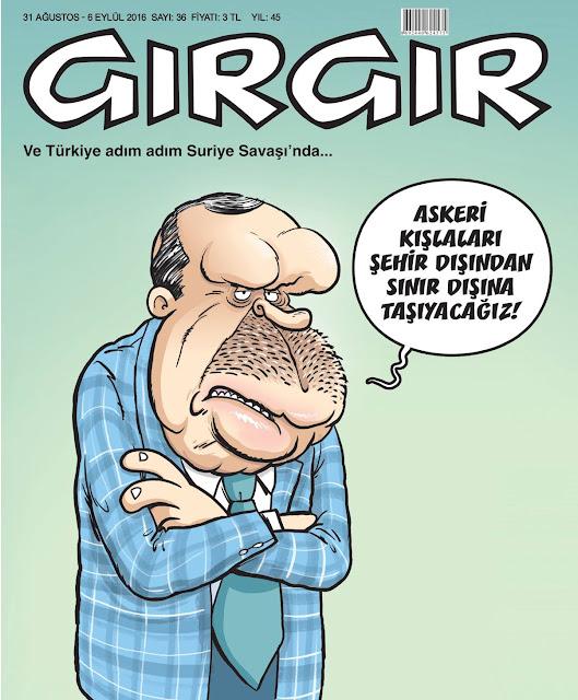 Gırgır Dergisi - 31 Ağustos - 6 Eylül 2016 Kapak Karikatürü
