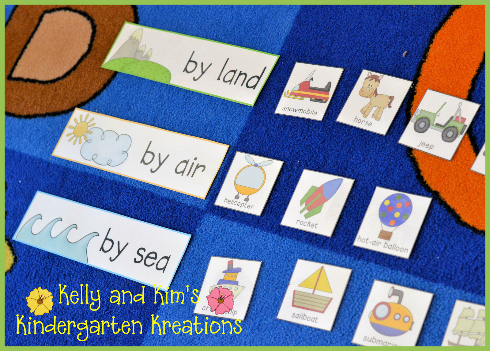 Kelly And Kim's Kindergarten Kreations: Vehicle Frenzy