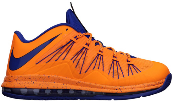 official photos a92c6 afca2 Nike Air Max LeBron X Low Bright Citrus Hyper Blue-Blackened Blue-White  Release Reminder
