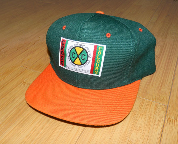 The Baked Apple   Deadstock Cross Colours Snapback Cap  d2fa8e766c0