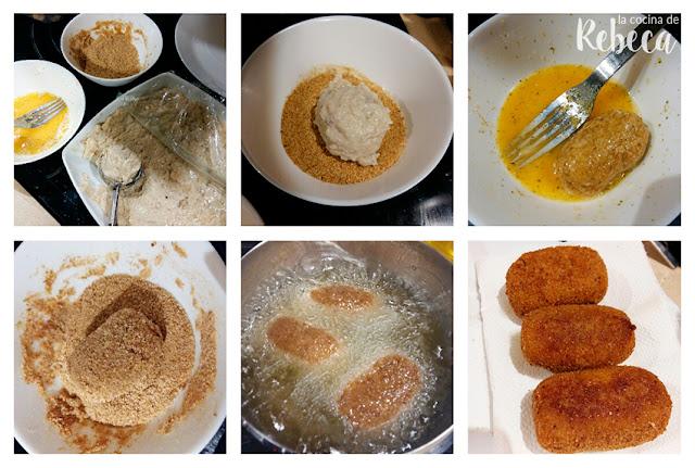 Receta de croquetas de pollo asado 04