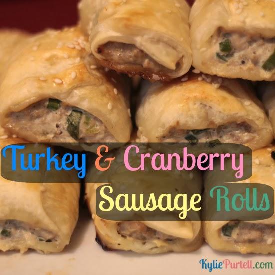 Easy & tasty turkey sausage rolls at KyliePurtell.com, turkey sausage rolls