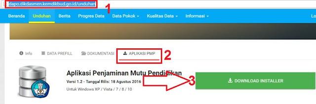 gambar unduh installer aplikasi PMP dapodik