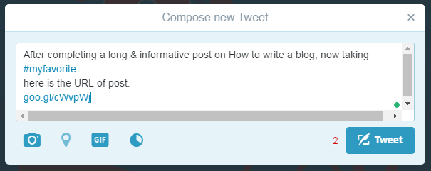 write tweets in short