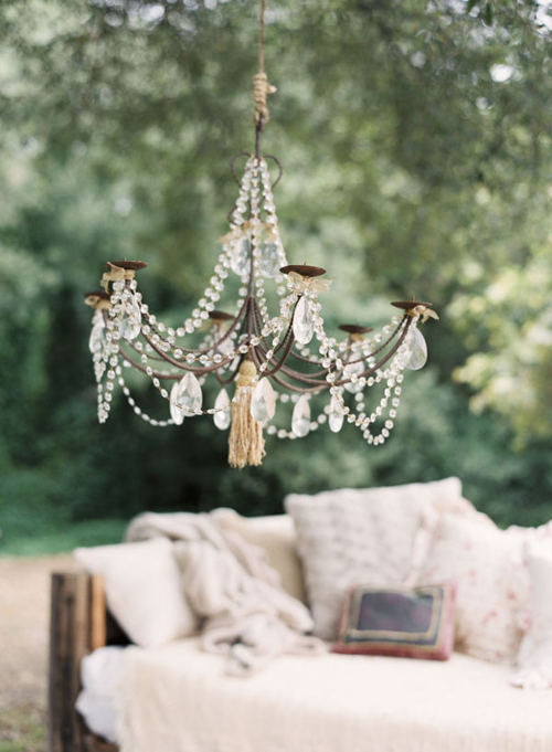 Anyone Can Decorate: Outdoor Chandelier Ideas