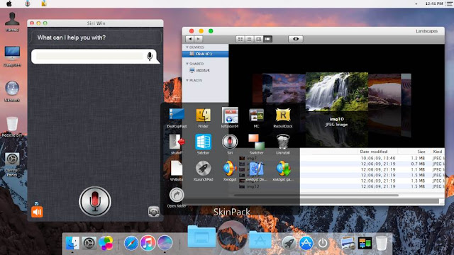 Download MacOS Sierra Skinpack Theme for Window OS 7, 8, 8.1 and 10. Similar theme for Window OS. Download theme installer for window OS.
