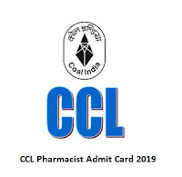 CCL Pharmacist Admit Card