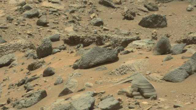 This is zoomed out even further of the Mars Soldier spying or shadowing the Mars Rover.