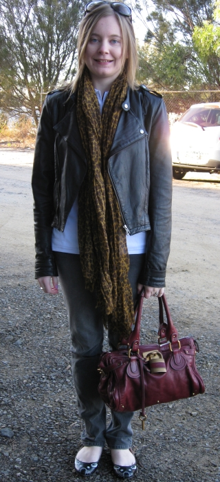 c90eb90880c6 Scarf: Asos crinkle oversized leopard print scarf (similar here on sale)  Top: Gifted white logo polo shirt from my work. Jeans: Jay Jays black skinny  ...