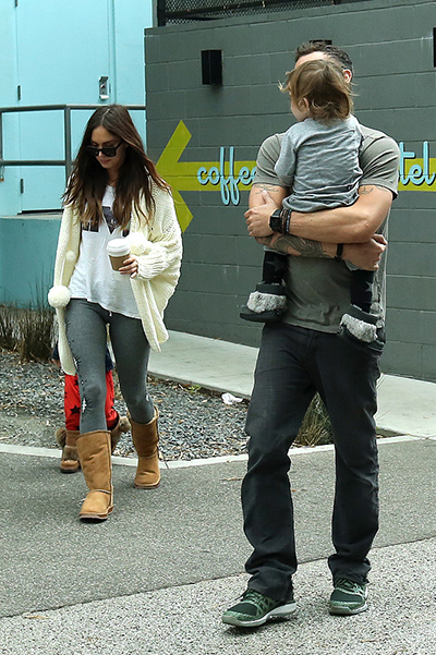 Megan Fox and Brian Austin Green with children