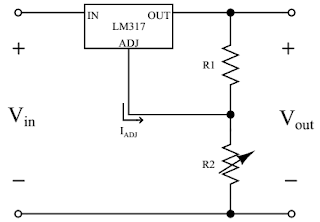 LM317 needs only two external resistors to set the output voltage