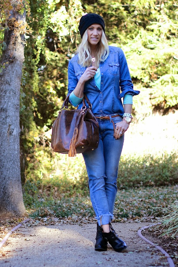 denim on denim style