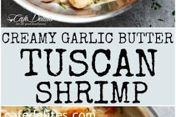 Recipe - Creamy Garlic Butter Tuscan Shrimp
