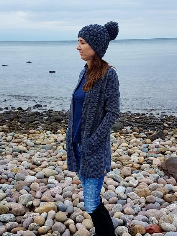 Cardigan Carina von pattydoo in blau-schwarz