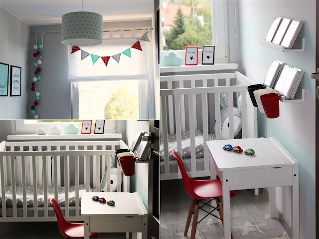 skandynawski pokój dziecięcięcy, pokój chłopięcy, pokój chłopca, mięta, ikea