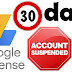 Adsense account suspended for 30 days in hindi