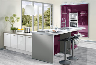 cocina color púrpura
