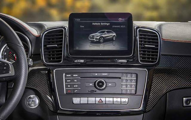 Mercedes AMG GLE 43 4MATIC Coupe 2017 sử dụng Hệ thống giải trí tiên tiến và hàng đầu của Mercedes hiện nay