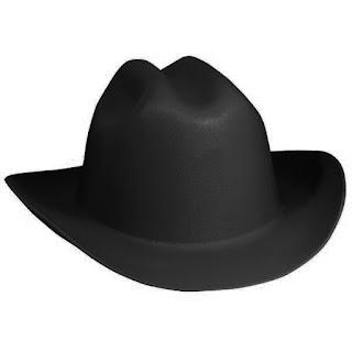 black big baer cowboy helmet