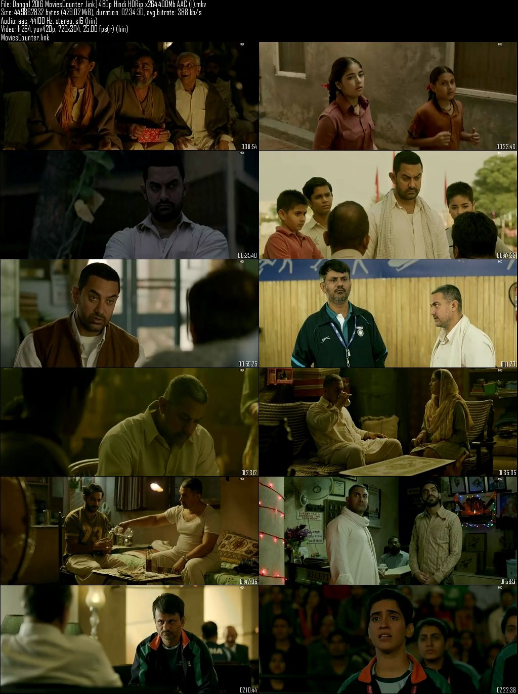 Screen shot Dangal 2016 Hindi HD 300MB