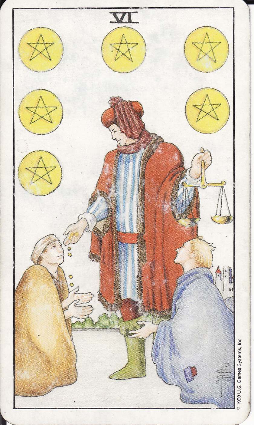 The 6 Key Spring 2019 Trends Confirmed By The Runways: The Royal Road: 6 SIX OF PENTACLES VI