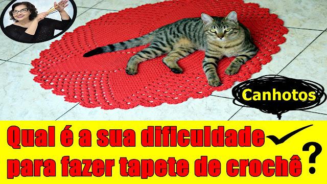 Tapete de Croche para Iniciantes - Qual é a sua dificuldade para fazer tapetes de croche? com Edinir Croche