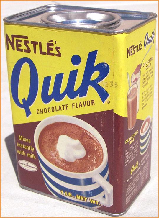 An Evening Meal: Chocolate Milk...