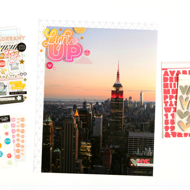 Light Up | Scrapbooking Layout | @evelynlafleur