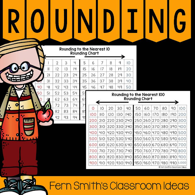 Fern Smith's Classroom Ideas Resources for Teaching Round to the Nearest Ten or Hundred.