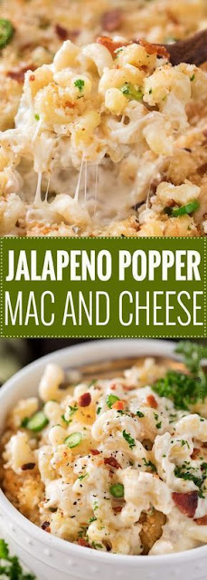 The BEST Jalapeño Popper Mac and Cheese