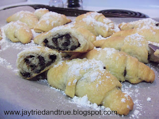 Chocolate Filled Crescents by Jay Tried and True