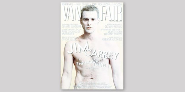 Annie Leibovitz & Jim Carrey - Vanity Fair White Cover Design