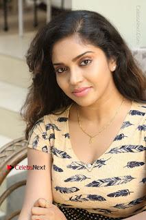 Telugu Actress Karunya Chowdary Stills in Short Dress at ATM Not Working Press Meet  0265.jpg