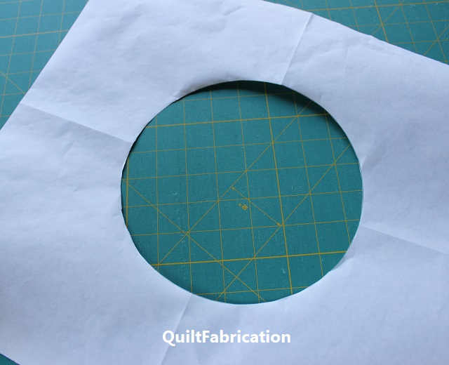 cut out circle in freezer paper