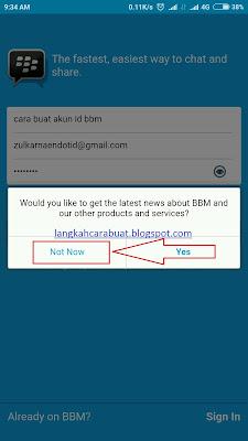 cara bikin akun bbm id