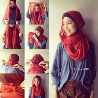 Trend Hijab Segi Empat Simple