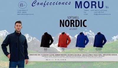 Imagen de la Cazadora de Hombre Softshell - NORDIC en 4 colores - Confecciones Moru S.L.