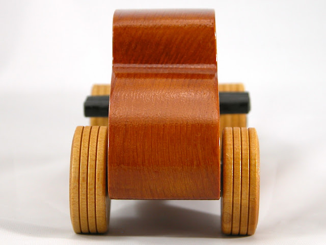 Rear - Wood Toy Cars - Wooden Cars - Wood Toys - Wooden Car - Wood Toy Car - Hot Rod - 1932 Ford - 32 Deuce Coupe - Little Deuce Coupe - Roadster - Race Car