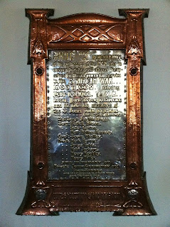 Boer War memorial in Holy Trinity, Poulton-le-Sands (Morecambe Parish Church)
