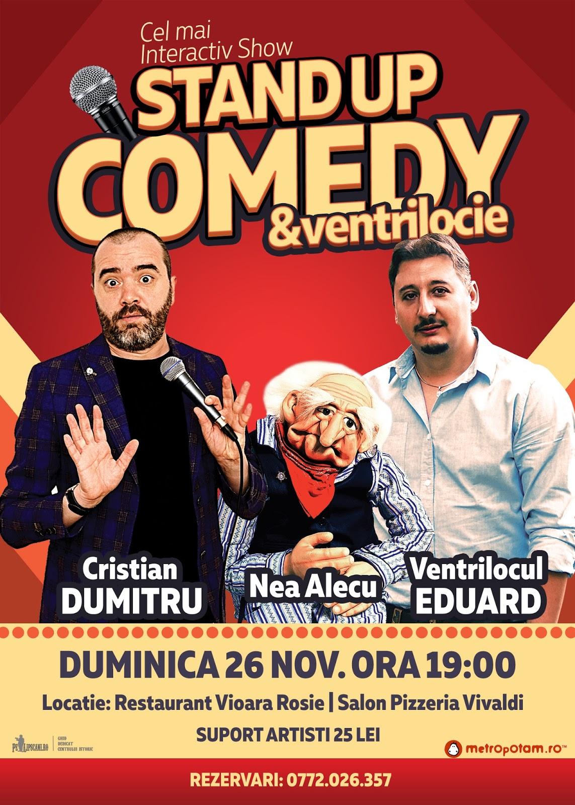 Stand-Up Comedy Bucuresti Duminica 26 noiembrie ora 19